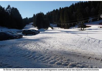 les pistes sous un maigre manteau neigeux