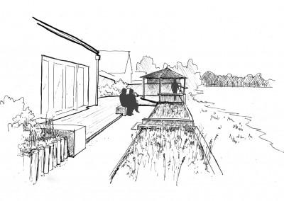 la terrasse et l'observatoire